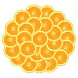 Círculo de naranjas Fotos de archivo libres de regalías
