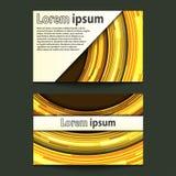 Círculo de neón del oro del diseño de la tarjeta de visita Imagen de archivo
