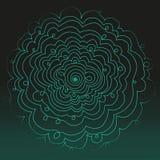 Círculo de neón Luz verde de neón Marco eléctrico Fondo de neón que brilla intensamente Fondo eléctrico abstracto Círculo de la s Foto de archivo