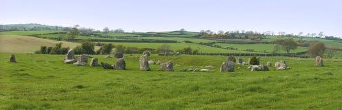 Círculo de pedra de Ballynoe Fotografia de Stock Royalty Free