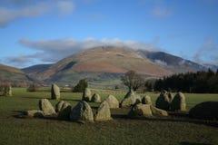 Círculo de pedra de Castlerigg Fotografia de Stock Royalty Free