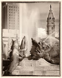 Círculo de Philadelphfia logan imagem de stock