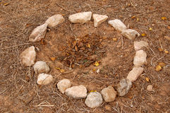 Círculo de piedra Foto de archivo