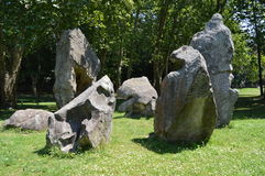Círculo de piedra fotografía de archivo libre de regalías