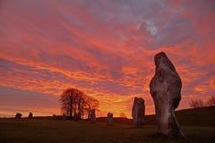 Círculo de piedra de Avebury Imágenes de archivo libres de regalías