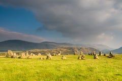Círculo de piedra de Castlerigg Fotos de archivo