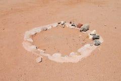 Círculo de piedra del desierto Fotos de archivo