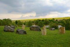 Círculo de piedra típico, República Checa, Europa Foto de archivo