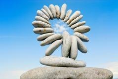 Círculo de piedras Fotografía de archivo