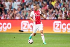 Círculo de qualificação da liga de campeões de UEFA terceiro entre Ajax contra PAO Fotografia de Stock