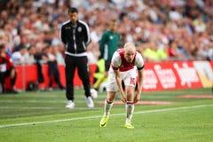 Círculo de qualificação da liga de campeões de UEFA terceiro entre Ajax contra PAO Fotografia de Stock Royalty Free