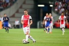 Círculo de qualificação da liga de campeões de UEFA terceiro entre Ajax contra PAO Foto de Stock Royalty Free