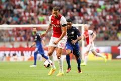 Círculo de qualificação da liga de campeões de UEFA terceiro entre Ajax contra PAO Imagem de Stock