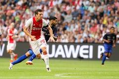 Círculo de qualificação da liga de campeões de UEFA terceiro entre Ajax contra PAO Imagens de Stock Royalty Free