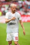 Círculo de qualificação da liga de campeões de UEFA terceiro entre Ajax contra PAO Foto de Stock