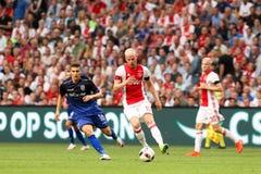Círculo de qualificação da liga de campeões de UEFA terceiro entre Ajax contra PAO Imagem de Stock Royalty Free