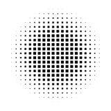 Círculo de semitono abstracto del fondo de la pendiente de cuadrados en el arreglo linear Vector elegante simple del diseño moder Imágenes de archivo libres de regalías