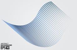 Círculo de semitono Dots Wave, ejemplo del vector. Fotos de archivo libres de regalías