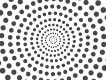 C?rculo de semitono de los puntos negros abstractos aislado en el fondo blanco stock de ilustración