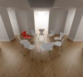 Círculo de sillas Fotografía de archivo