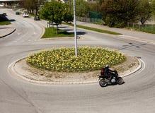 Círculo de tráfego fotografia de stock
