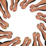 Círculo de uñas del pie pintadas Imagen de archivo libre de regalías