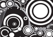 Círculo decorativo blanco y negro Fotos de archivo