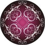 Círculo decorativo floral Imagens de Stock Royalty Free