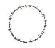 Círculo del alambre de púas Fotografía de archivo