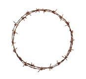 Círculo del alambre de púas Fotografía de archivo libre de regalías