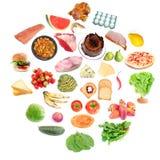 Círculo del alimento Imagen de archivo libre de regalías