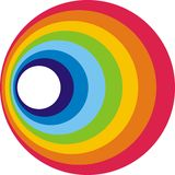 Círculo del arco iris Fotos de archivo libres de regalías