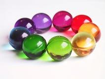 Círculo del arco iris de las bolas del baño Imagen de archivo