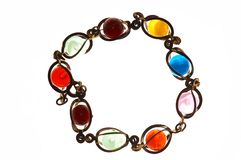 Círculo del bijouterie del color Foto de archivo libre de regalías