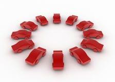 Círculo del coche del juguete Fotos de archivo