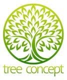 Círculo del concepto del icono del árbol ilustración del vector