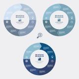 Círculo del diagrama del negocio Imagenes de archivo