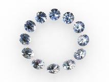 Círculo del diamante Fotografía de archivo libre de regalías