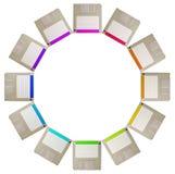 Círculo del disquete Imagenes de archivo