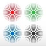 Círculo del dolor Anillo multicolor, símbolo del dolor Fotografía de archivo libre de regalías
