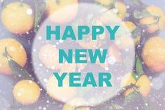 Círculo del fondo de la Feliz Año Nuevo Fotografía de archivo