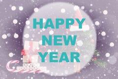 Círculo del fondo de la Feliz Año Nuevo Foto de archivo libre de regalías