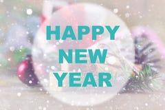 Círculo del fondo de la Feliz Año Nuevo Imagen de archivo libre de regalías