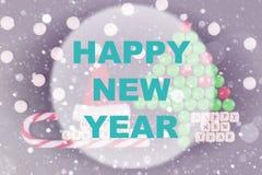 Círculo del fondo de la Feliz Año Nuevo Fotografía de archivo libre de regalías