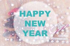 Círculo del fondo de la Feliz Año Nuevo Fotos de archivo