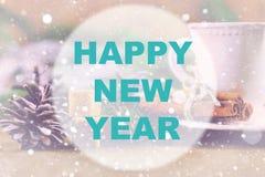Círculo del fondo de la Feliz Año Nuevo Imágenes de archivo libres de regalías