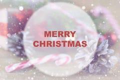 Círculo del fondo de la Navidad Imagen de archivo libre de regalías