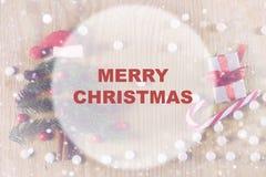 Círculo del fondo de la Navidad Fotos de archivo