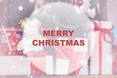 Círculo del fondo de la Navidad Imagenes de archivo