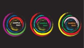 Círculo del Grunge Foto de archivo libre de regalías